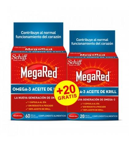 Schiff MegaRed 60 capsulas + 20 cápsulas gratis