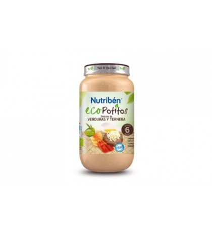 Nutribén Eco Potito Verdura Ternera 6m 250g