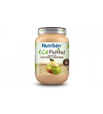 Nutribén Eco Potito Platano Manzana 4m 200g