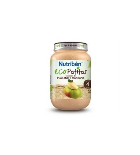 Nutribén Eco Potito Plátano Manzana 4m 250g