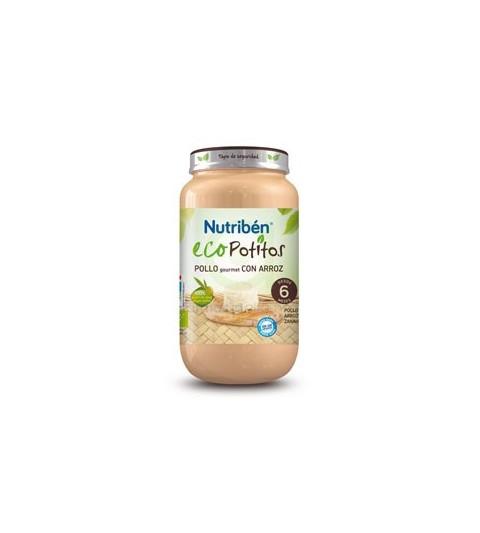 Nutribén Eco Potito Pollo Gourmet Arroz 6m 250g