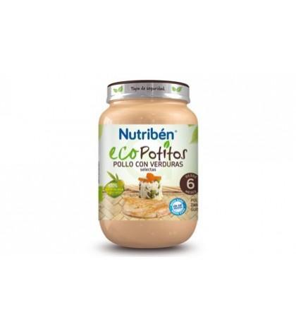 Nutribén Eco Potito Pollo Verduras 4m 200g