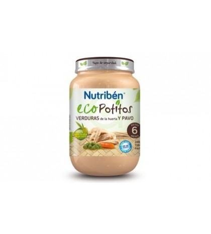 Nutribén Eco Potito Verduras Pavo 6m 200g