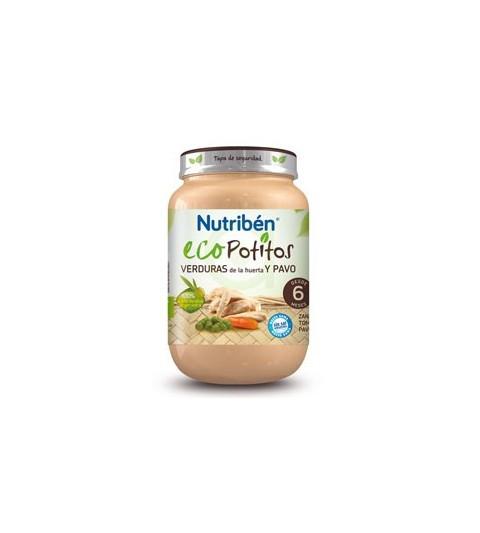 Nutribén Eco Potito Verduras Pavo 6m 250g