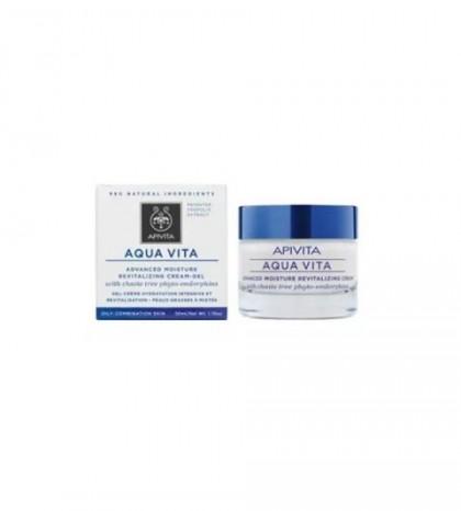 Apivita Aqua Vita Crema-Gel Hidratante Avanzada y Revitalizante para Pieles Grasas-Mixtas 50ml