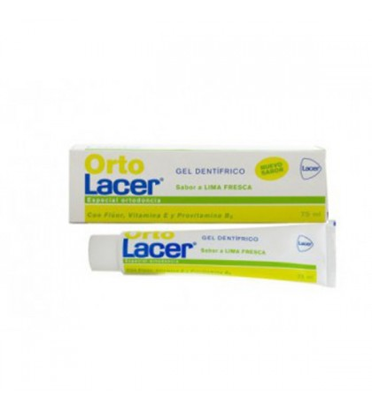 OrtoLacer Gel Dentifrico Sabor Lima Fresca 75ml