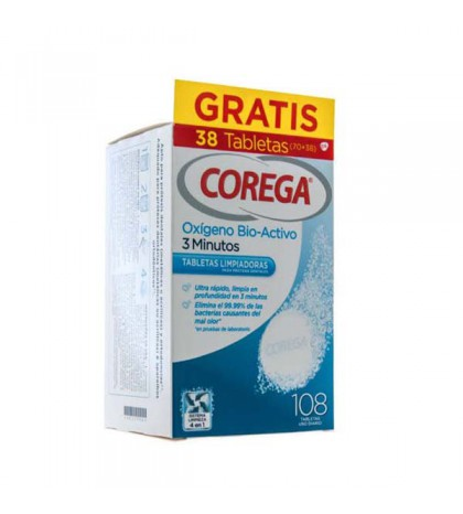 Corega Oxigeno bio-activo 3 minutos 30 tabletas