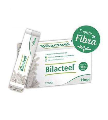 Heel Bilacteel 10 sticks probióticos con fibras solubles prebióticas para regular el tránsito intestinal