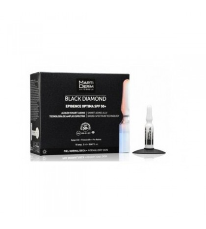 Martiderm Black Diamond Epigence Optima SPF 50+ ampollas 10 ud piel normal seca