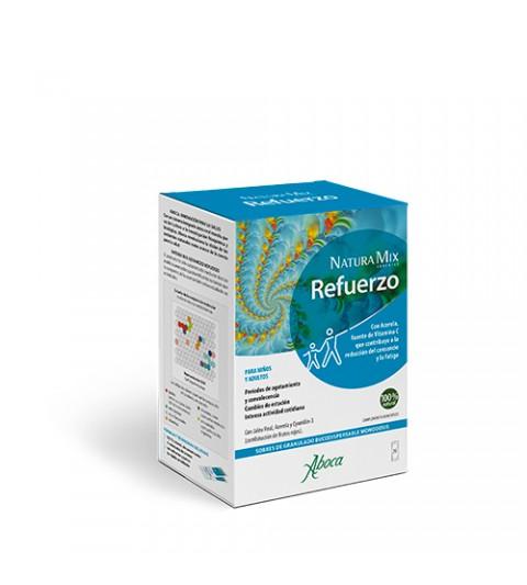 Aboca Natura Mix Refuerzo 20 sobres para reducir el cansancio y la fatiga con acerola y jalea real