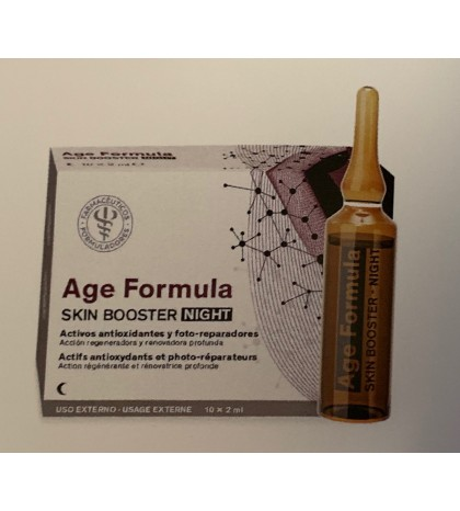Farmaplaya Age Fórmula Skin Booster Noche 10ampollas proteoglicanos