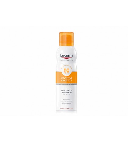 Eucerin Sun Protection Spray Transparente Toque seco sensitive protect FPS50 200ml