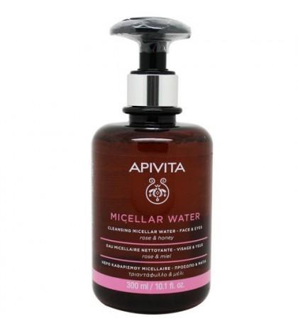 Apivita Agua Micelar para cara y ojos con rosa y miel 300ml