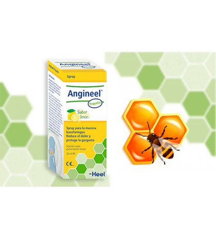 Heel Angineel Propolis Limón spray natural para el dolor de garganta