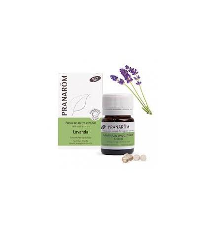 Pranarom Aceite Esencial bio Lavanda 60 minicápsulas ecológicas articulaciones y músculos , piel, equilibrio emocional