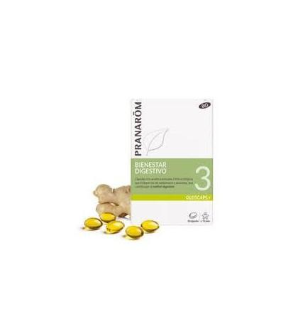 Pranarom Oleocaps + 3 Bienestar Digestivo 30 cápsulas aceites esenciales