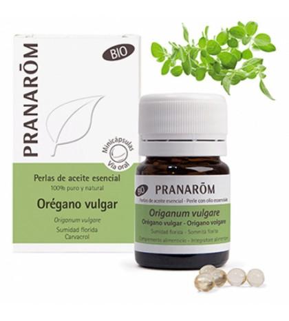 Pranarom Orégano Vulgar BIO perlas aceite esencial 60 minicápsulas
