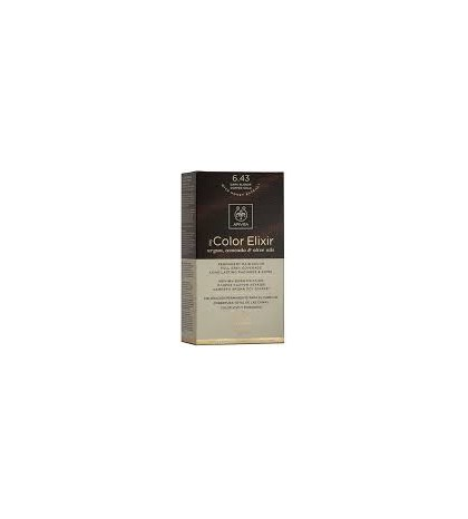 Apivita Tinte 6.43 Rubio Oscuro Cobrizo Dorado
