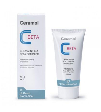 Farmaplaya Ceramol Beta Crema Íntima para irritaciones anales y genitales en adultos y niños 50ml