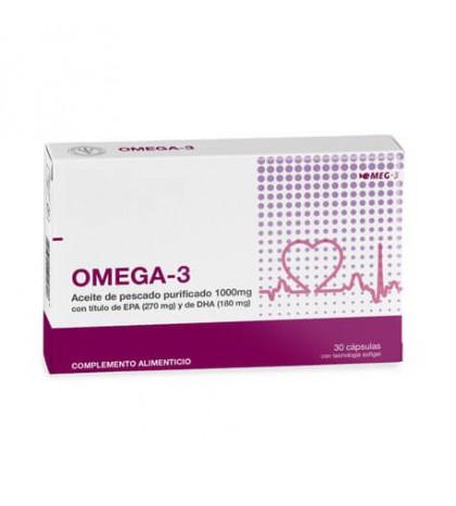 Farmaplaya Omega 3 aceite de pescado EPA y DHA 30 cápsulas para una buena salud cardiovascular