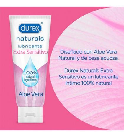 Durex Naturals Lubricante Extra Sensitivo con aloe vera 100 ml