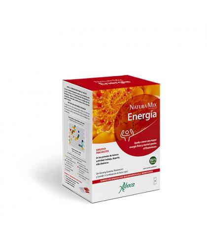 Aboca Natura Mix Energía 20 sobres granulado bucodispersable aporta energia natural energía física y mental