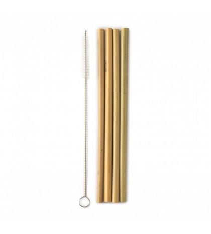 The Humble pajitas de bambú reutilizables con limpiador cuida el medioambiente