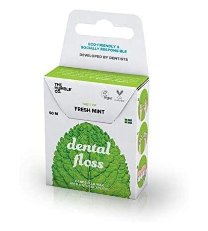 The Humble hilo dental menta fresca ecológico y vegano para eliminar placa y prevenir caries 50m