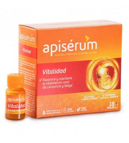 Apiserum Vitalidad 18 viales con jalea real y vitaminas para aportar energía, vitalidad y ánimo