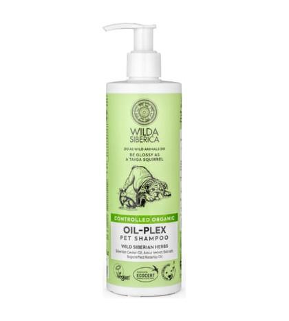 Wilda Siberica champú mascotas oil-plex 400ml champú natural orgánico para perros y gatos que aporta brillo
