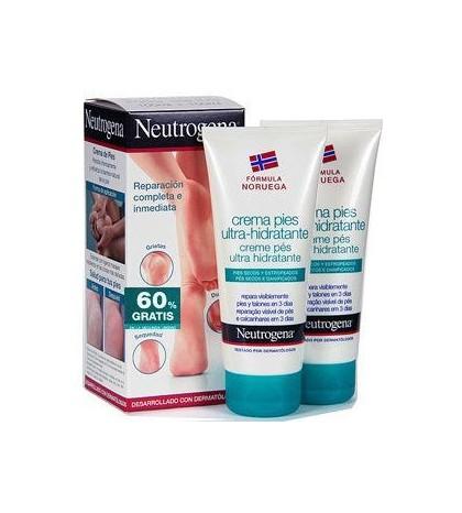 Neutrogena crema de pies ultra hidratante 100ml pack duplo para pies secos y estropeados