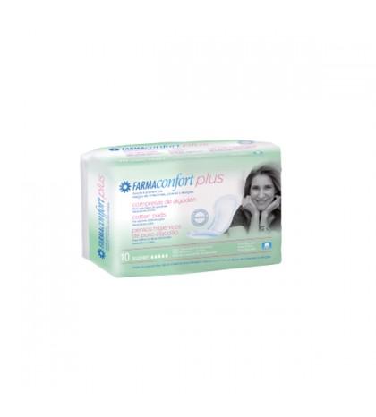 Farmaconfort Plus compresas algodón súper 10 unidades