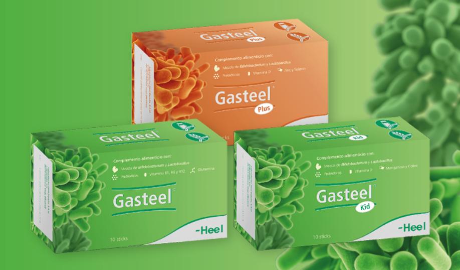 Línes Gasteel para toda la familia. Simbiótico para la salud intestinal